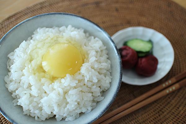 """自然栽培米ミナミニシキの卵かけご飯"""" width="""