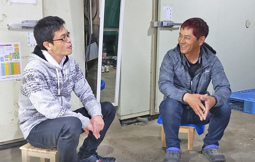 自然栽培米農家さんとのインタビュー