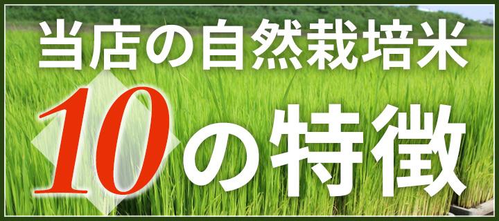 自然栽培米10の特徴